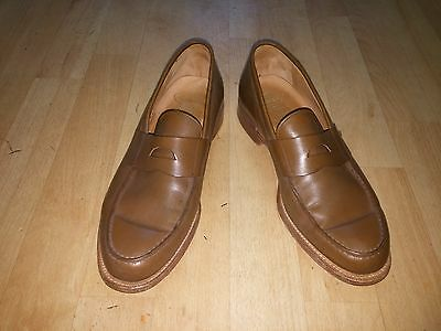 Men's Tan Leather Custom Grade Church's Size 9F Tan Loafers