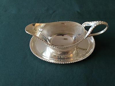 Silver plated Gravy Boat and saucer by Arthur Price