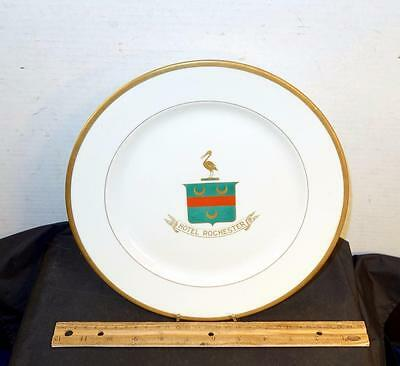 Vintage Hotel Rochester Dinner Plate Syracuse China Pelican Logo