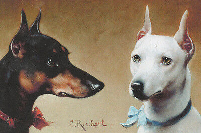 1890s Manchester Terrier Dogs by Carl Reichert - LARGE New Blank Note Cards