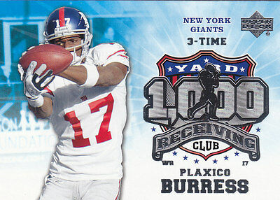 2006 Upper Deck 1000 Receiving Yard Club #1KRE-PB Plaxico Burress GIANTS