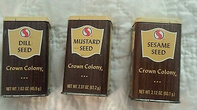 Vintage Crown Colony Spice tins-3