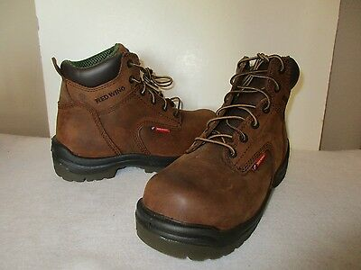 """NEW Men's Red Wing 2241 Safety Toe 6"""" Work Boots, Brown, Sz 6.0 D, $165"""