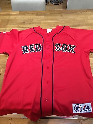 Red Sox Baseball Jersey Mueller Size Large