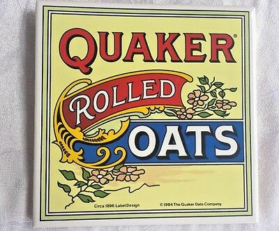 1984 Quaker Oats Decorative Tile Wall Hanging 1896 Replica Design