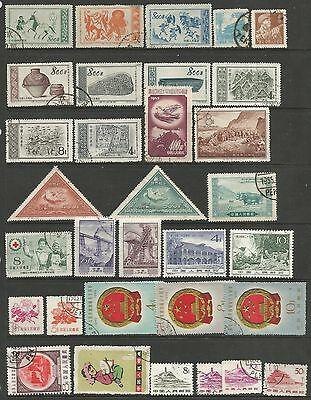 CHINA-PEOPLES REPUBLIC. A Selection of 63 Modern Used Stamps. In fine condition.