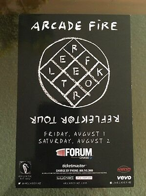 Arcade Fire Reflector tour Forum LA Aug 2 2015 Handbill