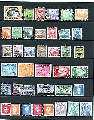 United States Philipine Islands Japanese Occupation Collection 39 stamps