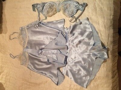 Sulis Silk Camisole with French knickers & wired bra 36""