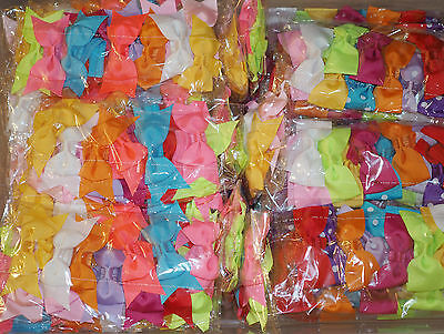44 Pcs Baby Toddler Girls Skinny Foe Elastic headband headwear Hair Bow 4 STYLE