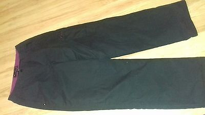 Ladies Mountain Life fleece lined trousers - size 10 - black - in vgc