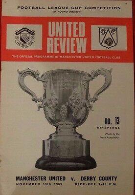 MANCHESTER UNITED V Everton FA Cup 6th round1969 PROGRAMME