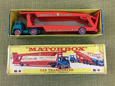 Matchbox Car Transporter - A Lesney Product - K-8 - With Box - Excellent.
