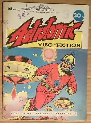 Rare ASTROTOMIC viso fiction 8 sos capitaine vega couv Marcello BE+ 1959 Duca