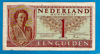 Netherlands P72(2) 1 Gulden STATE NOTES Queen Juliana 18.05.1945 aXF SCARCE