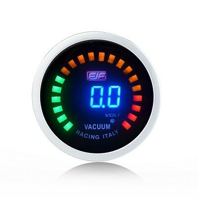 "Blue 2"" 52mm Digital Displayed Vacuum Car smoke vacuum Gauges Reads -1~0 bar"