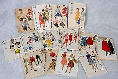 Vintage Lot Womens Sewing Patterns 1940 1950 1960 Vogue Simplicity Mccalls Hats