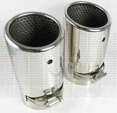 CHROME EXHAUST TIPS TAIL PIPE MUFFLER for BMW E60 E61 5 SERIES 03-2010 71mm M M5