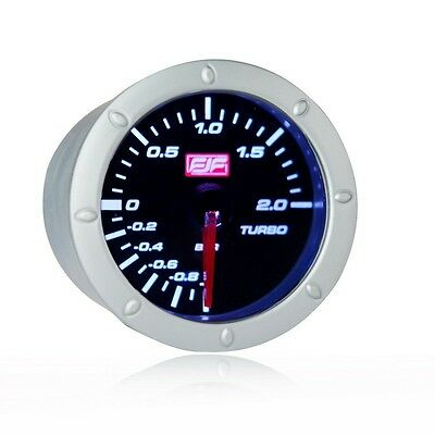 """New 2"""" 52mm Car smoke boost Gauges Meters dail -1~2bar Boost white LED displayed"""