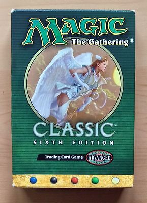100% COMPLETE MAGIC 6th EDITION 2-PLAYER STARTER SET (WIZARDS, 1999)