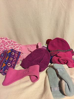 Lot of girls winter hats, gloves and scarfs