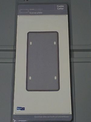 Quickutz License Plate Cookie Cutter 1 Cutting Dies Cc-Shape-078-1 New A908