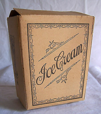 Vintage 1 Quart cardboard Ice Cream Carton paper box NY City type 109 dairy