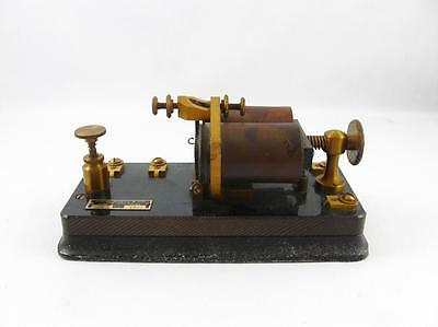 Antique J.h. Bunnell Morse Code Telegraph Sounder Relay Type 2-2 150 Ohms