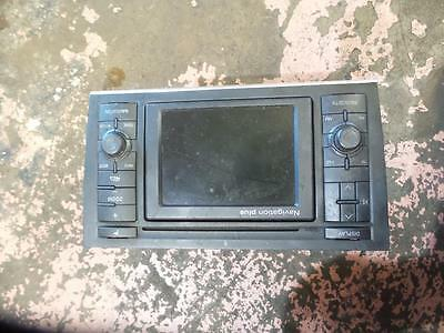 Audi A4 Radio/cd/dvd/sat/tv Nav Unit In Dash, B6, 07/01-02/06  01 02 03 04 05 06