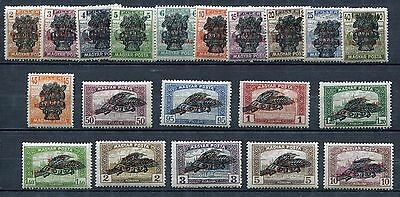 Hungary 1920 Scott 311-30 330 Michel 292-311 Overprints Complete Set, NH