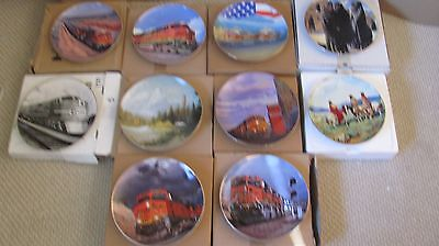 Lot Of 10 Bnsf Burlington Northern Santa Fe Railway Collector Plates Exc
