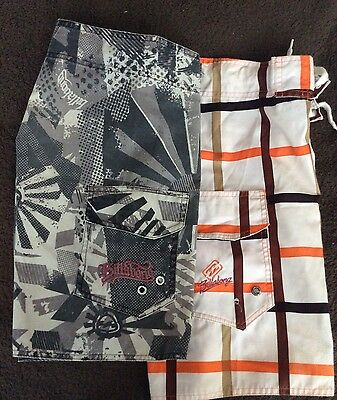 Two Pairs Of Billabong Board Shorts Boys Size 6 And 8 preloved