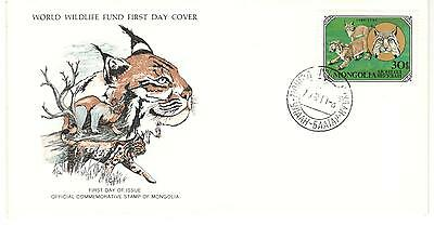 Mongolia Fdc 1978 Cat Stamps Wild Cats Wwf Lynx Unaddressed Mongolia Stamps