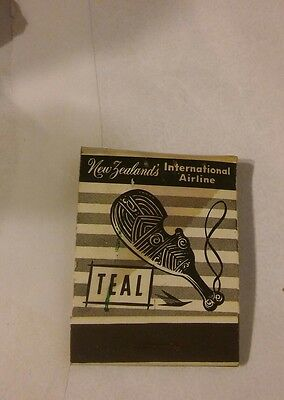 Vintage matchbook from New Zealand's Teal airline
