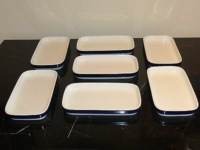 7 Lufthansa Airlines First Class Dishes By Hutschenreuther Porcelain, Germany