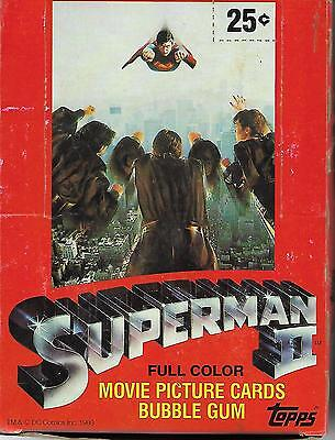 1981 TOPPS SUPERMAN ll VINTAGE 36 PACK WAX BOX COMPLETE