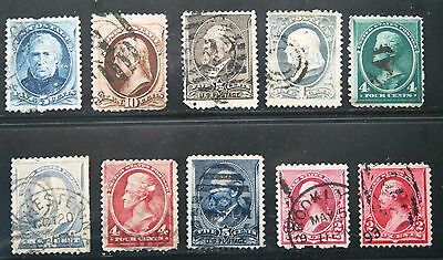 RICHNVIC02 ******  19th CENTURY CLASSICS - 10 STAMPS,  USED, CV $163.50, LOT 363
