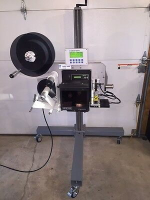 Label-Aire 3138N Tamp-Blow, Print and Apply Label Applicator with Sato M8485Se P