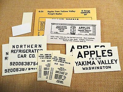 """Champ """"Apples From Yakima Valley"""" Reefer O Scale Decals"""