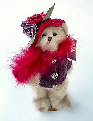 The Bearington Bear Collection Duchess of Plume 2004 w/ stand retired bear NWOB