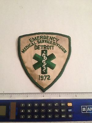 Detroit Emergency Fire Medical Services Patch