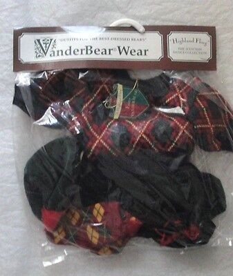 VanderBear Wear FUZZY Highland Fling Scottish Dance Collection Outfit