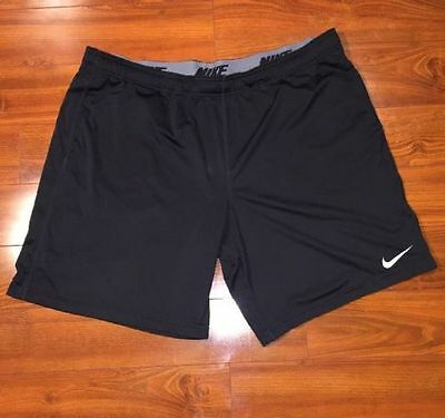 NIKE Basketball Dri fit Men's Athletic Workout shorts size 2XL XXL Black Gray