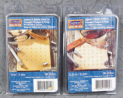 ArtMinds Set of Two 36 Piece Alphabet & Number Sets 3MM & 6MM NEW
