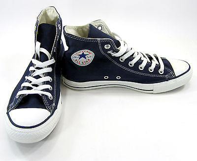 CONVERSE SHOES CHUCK Taylor Hi All Star Navy Blue Sneakers Men 8.5 Womens 10.5