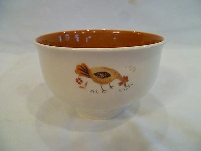 Taylor-Smith-Taylor china Break-o-day rooster chicken chip dip bowl Ever Yours