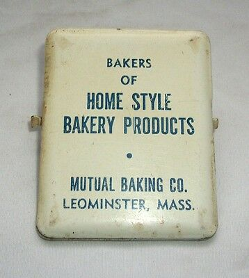 Vintage Advertising Metal Paperclip Mutual Baking Co Leominster Mass Paper Clip