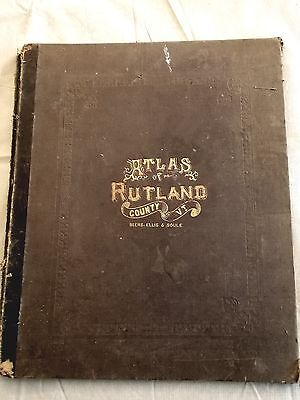 Atlas of Rutland County Vermont - 1869 Color and Black & White Photos