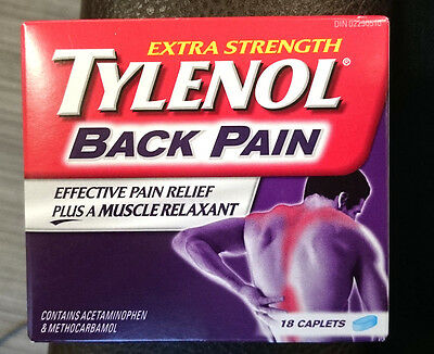 Tylenol Back Pain Relief Acetaminophen & Methocarbamol Muscle Relaxant 18Caplets