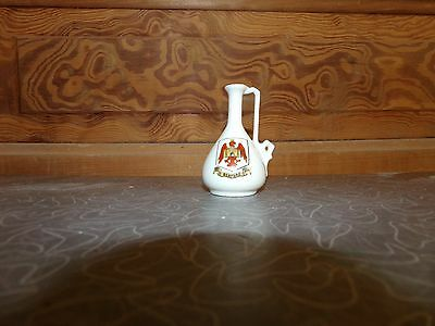 Vintage Bedford Crested China Miniature Ewer Coronet Ware England